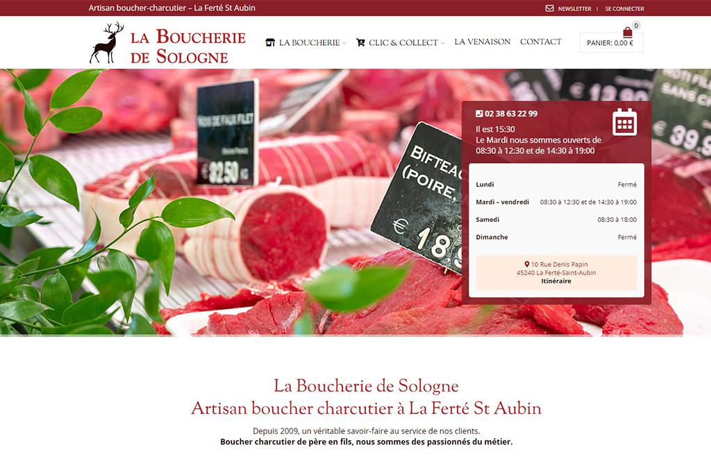site e-commerce Boucherie de Sologne